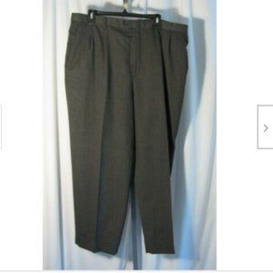 Claiborne 40 x 30 Gray Wool Blend Trousers